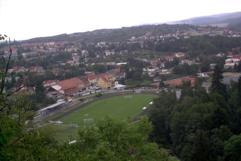 FOTKA - prochazka a Boskovice pres stromy,zimni stadion