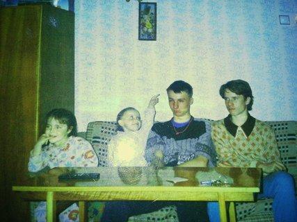 FOTKA - já a můj přítel na koncích před skoro dvaceti roky