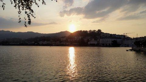 FOTKA - Gmunden - Západ slunce