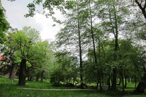FOTKA - Ctěnice -  Park i ostatní objekty jsou památkově chráněny.
