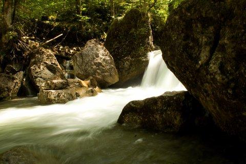 FOTKA - Seisenbergklamm -  Tekoucí voda