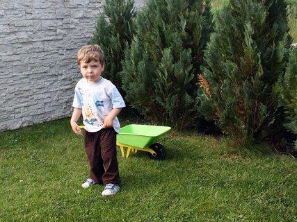 FOTKA - Michael na zahrade