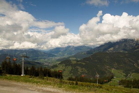 FOTKA - Gabühel z Hinterthalu - Pohled k Saalfeldenu