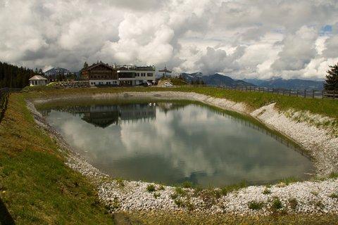 FOTKA - Gabühel z Hinterthalu - Pohled na vodní nádrž