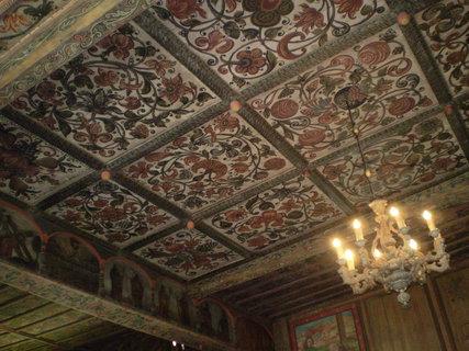 FOTKA - Slavoňov, malovaný strop dřevěného kostelíka