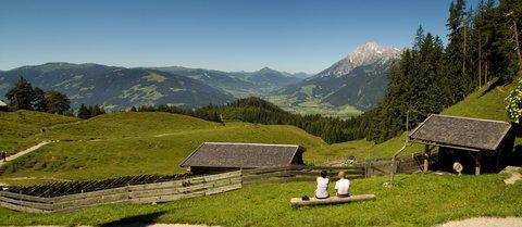 FOTKA - Výšlap ke Steinalm - Pohled do údolí