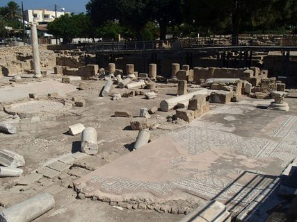 FOTKA - Cyprus - Paphos - ruiny byzantskej baziliky