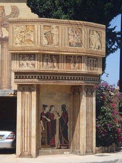 FOTKA - Cyprus - priečelie s maľbou