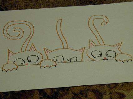 FOTKA - Číhající kočky