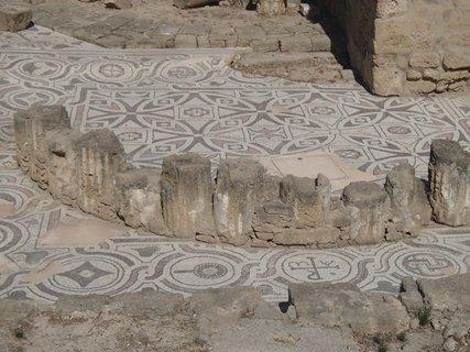 FOTKA - Cyprus - Paphos- mozaiky z byzantskej baziliky