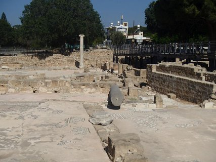 FOTKA - Cyprus - starý Paphos - zachovalé mozaiky a ruiny