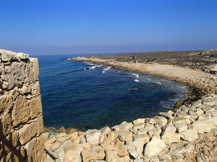 FOTKA - Cyprus - vyhliadka z pevnosti v Paphose