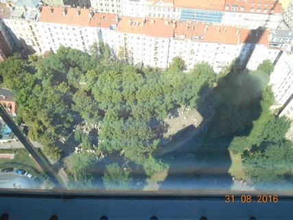 FOTKA - Pohled na židovský hřbitov z výšky