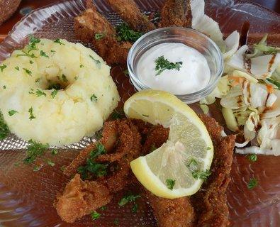 FOTKA - kapří hranolky a šťouchané brambory