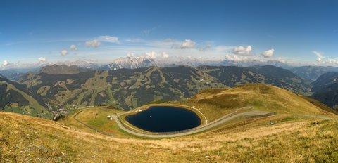 FOTKA - Schattberg - Panorama s nádrží