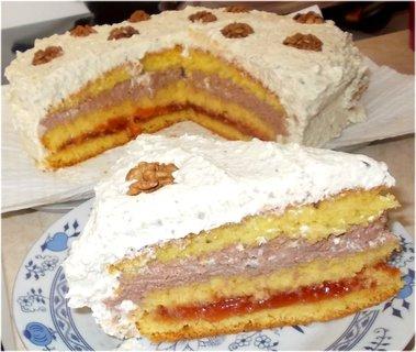 FOTKA - ořechovo-kakový dortík
