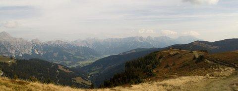 FOTKA - Z Asitz na Geierkogel - POhled do údolí Leogangu