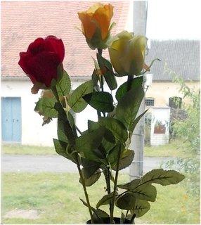 FOTKA - umělé růže na zimu domu