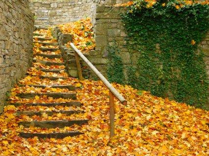 FOTKA - cesta po hradních schodech