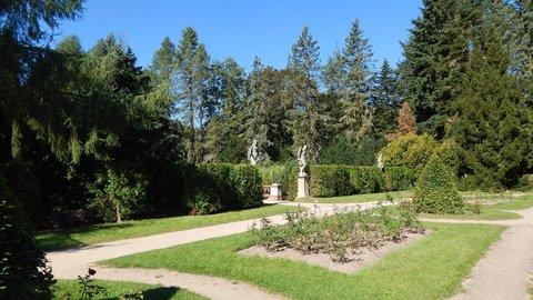 FOTKA - sochy v zámeckém parku