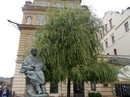FOTKA - Dvě S- socha a strom
