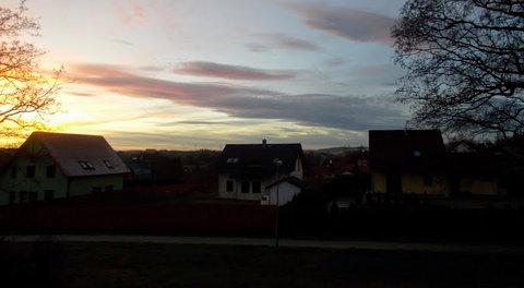 FOTKA - Večerní obloha v prosinci