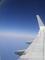 ve vzduchu z letadala ta barevná škála modré je užasná