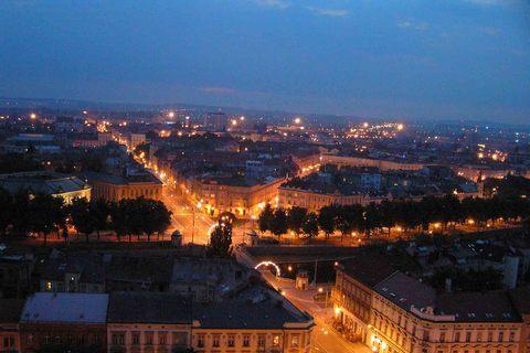 FOTKA - Hradec v noci