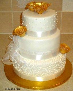 FOTKA - svatební bílozlatý