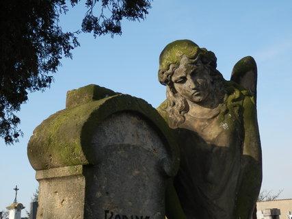 FOTKA - na hřbitově v Přelíci, Slánsko