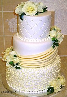 FOTKA - žlutobílý dort...