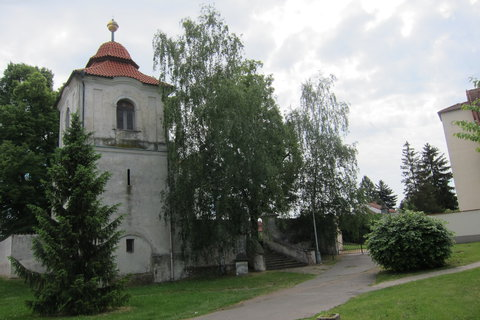 FOTKA - Třeboradice - Kostel Nanebevzetí Panny Marie a zvonice ze 17.století