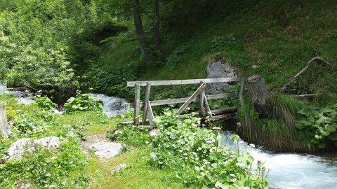 FOTKA - Přes Enzenalm a Willi Schweigerweg k Triefen - Lávka přes potok