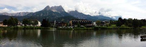 FOTKA - Jezero Ritzensee a vyhlídka Kühbühel - Pohled přes jezero