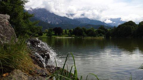 FOTKA - Jezero Ritzensee a vyhlídka Kühbühel - Bzučící voda