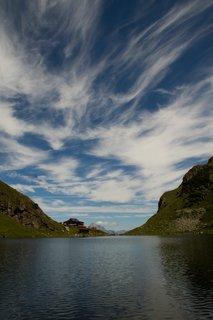 FOTKA - Výšlap k Wildseelodersee - Mraky nad jezírkem