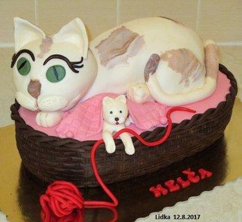 FOTKA - kočka s  koťátkem