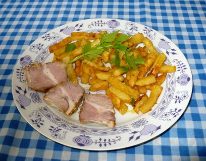 FOTKA - Celerové hranolky s vepřovým