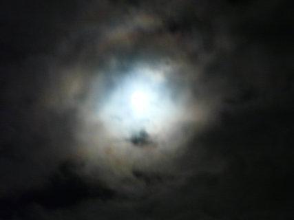 FOTKA - úplněk mezi mraky