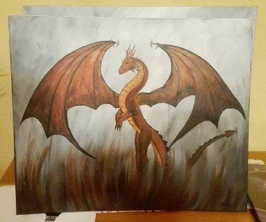 FOTKA - dcéra maľovala obraz pre synovca