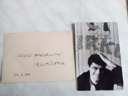 FOTKA - pri upratovaní som našla fotku s venovaním od herca Jána Třísku