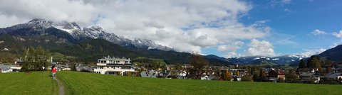 FOTKA - Hezký podzimní den na Ritzensee - Panorama Saalfeldenu