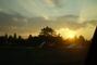 Západ slunce z auta
