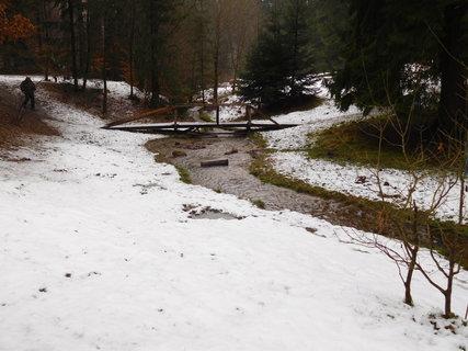 FOTKA - Žulovský potok, který vytéká z Lesního koupaliště
