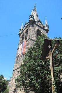 FOTKA - Jindřišskou ulicí - kolem Kostela sv. Jindřicha a sv. Kunhuty před Jindřišskou věží