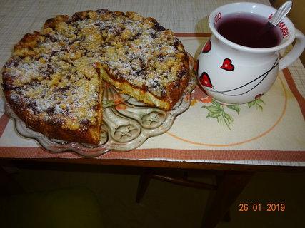 FOTKA - Meruňkový koláč a čaj