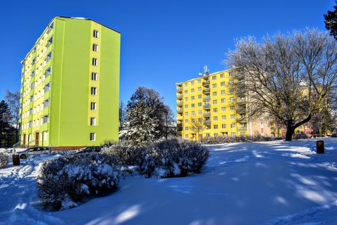 FOTKA - Barevné sídliště v zimě