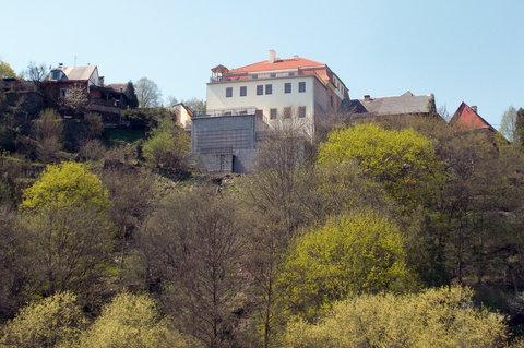 FOTKA - výhled na Rabštejn přes řeku Střelu