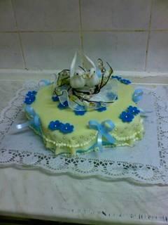 FOTKA - modrý dort