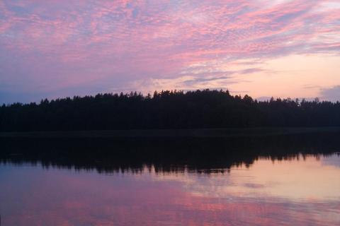 FOTKA - Západ slunce u jezera / Mazury-Polsko/